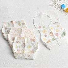Maya stepan 10 pces babadores descartáveis do bebê para refeições toalhas da saliva do bebê das crianças à prova dwaterproof água que alimenta o babador bolsos portáteis