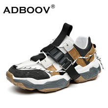 Chunky Sneakers Tenis Men Shoes ADBOOV Fashion Chaussure Buckle-Design Homme Masculino