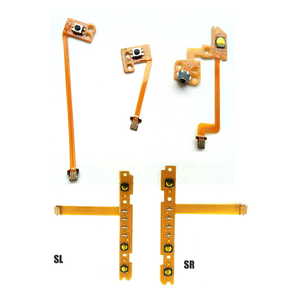 Replacement For Nintend Switch Joy-Con ZR ZL L SL SR Button Key Ribbon Flex Cable For NS   Repair Cable