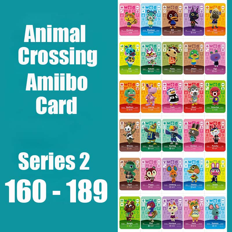 Series 2 (160 To 189) Animal Crossing Card Amiibo Cards Locks Nfc Card Work For Switch NS 3DS Games Series 2 (160 To 189)