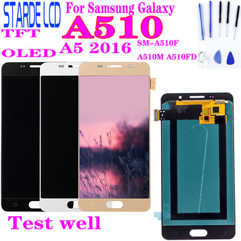 цена на For SAMSUNG Galaxy A5 2016 A510 SM-A510FD A510F A510M LCD Display and Touch Screen Digitizer Assembly Replacement Parts