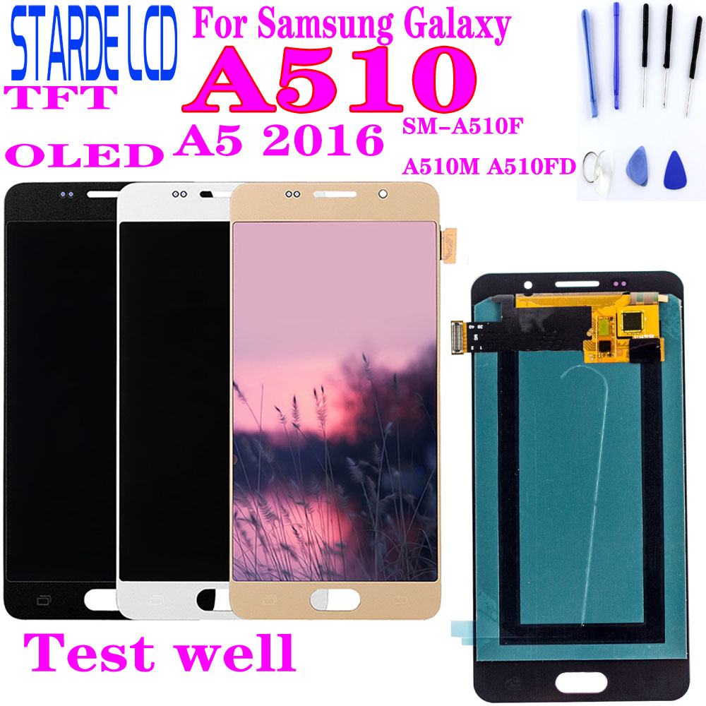 For <font><b>SAMSUNG</b></font> Galaxy A5 2016 A510 SM-A510FD <font><b>A510F</b></font> A510M <font><b>LCD</b></font> Display and Touch Screen Digitizer Assembly Replacement Parts image