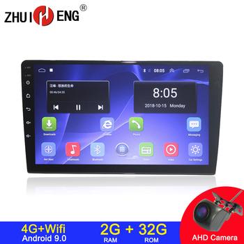 Android 9 1 4G internet wifi 2 din radio samochodowe na uniwersalny samochodowy odtwarzacz dvd autoradio samochodowy sprzęt audio samochodowe stereo radio samochodowe 2G 32G tanie i dobre opinie ZHUIHENG BW-91502 4x50W W desce rozdzielczej Mental+Plastic Tuner radiowy Angielski 84-108 HZ 12 v 9 INCH 1024*600 2G RAM
