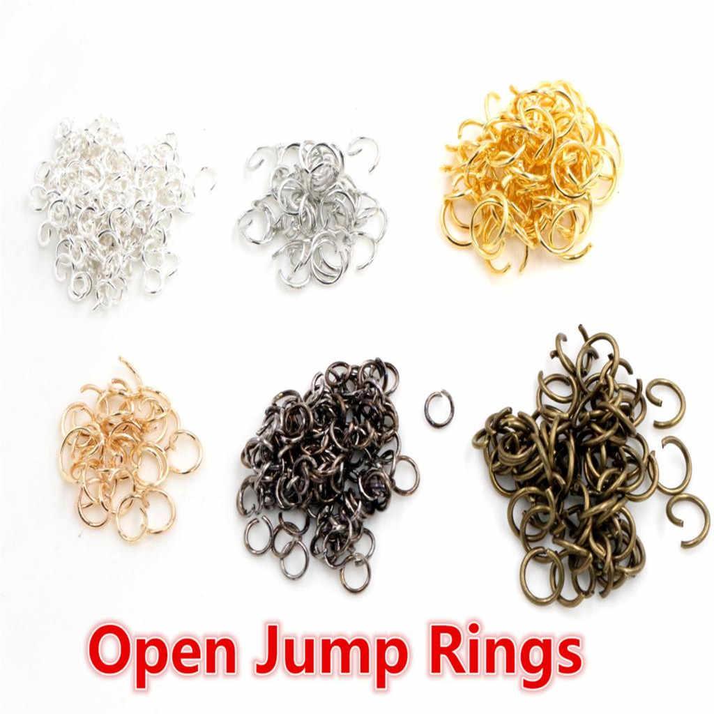 Otwarte pętli Jump pierścienie 200 sztuk/partia 4 5 6 7 8 mm otwarte JumpRings dla DIY tworzenia biżuterii naszyjnik bransoletka ustalenia złącze dostaw