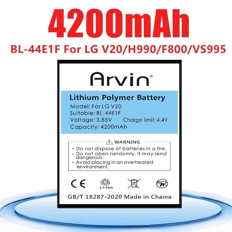 Новый 4200 мА/ч, BL-44E1F, запасная батарея, батарея для LG V20 VS995 US996 LS997 H990DS H910 H918 BL44E1F BL-44E1F LG Stylus3 LG-M400DY