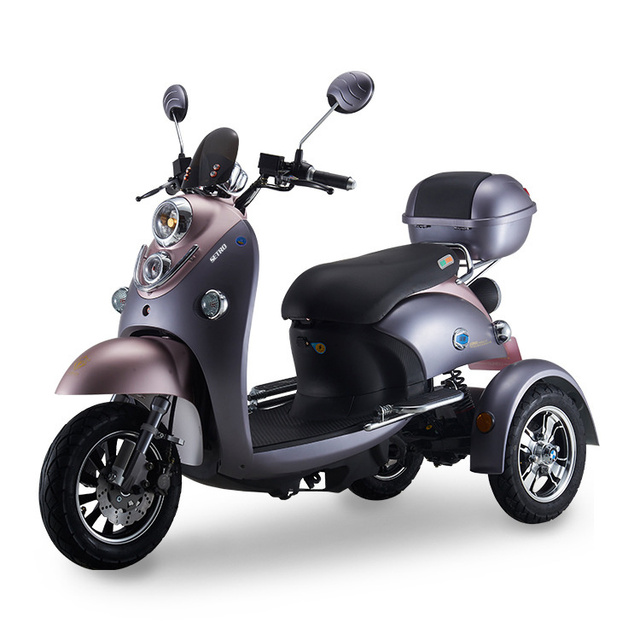 Adult Vespa Tricycle Fat Tire Electric citycoco Scooter With Seat Kcq Electric Scooter Electric 3 Wheels Motorcycle Road 2021 3
