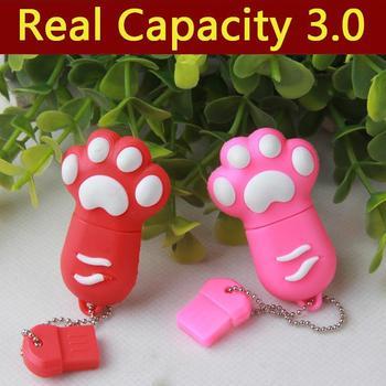 HOT Cartoon Cute 5Style Cat Claw 64GB 8GB 16GB 32GB USB Flash Drive 3.0 External Storage USB Gadget Memory Stick Card 1/2TB Gift