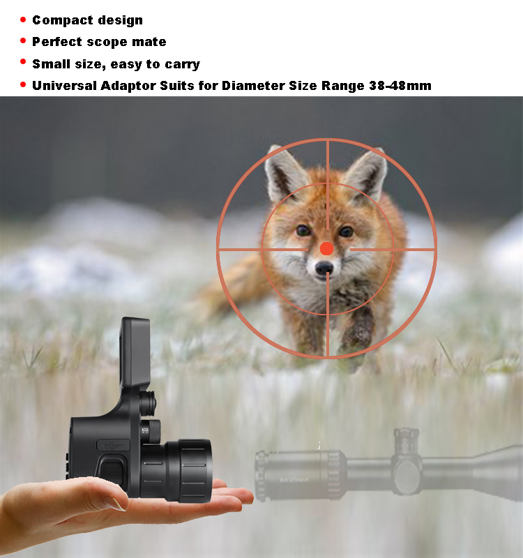 escopo 1080p câmera de caça vídeo tiro lateral cam