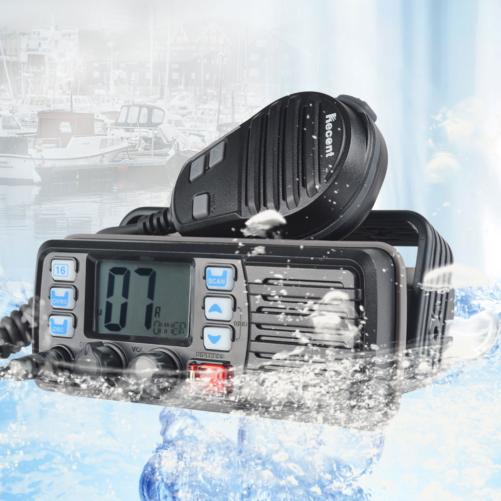 25W High Power VHF Marine Band Walkie talkie Mobile Boat Radio Waterproof 2 Way Radio mobile transceiver RS-507M