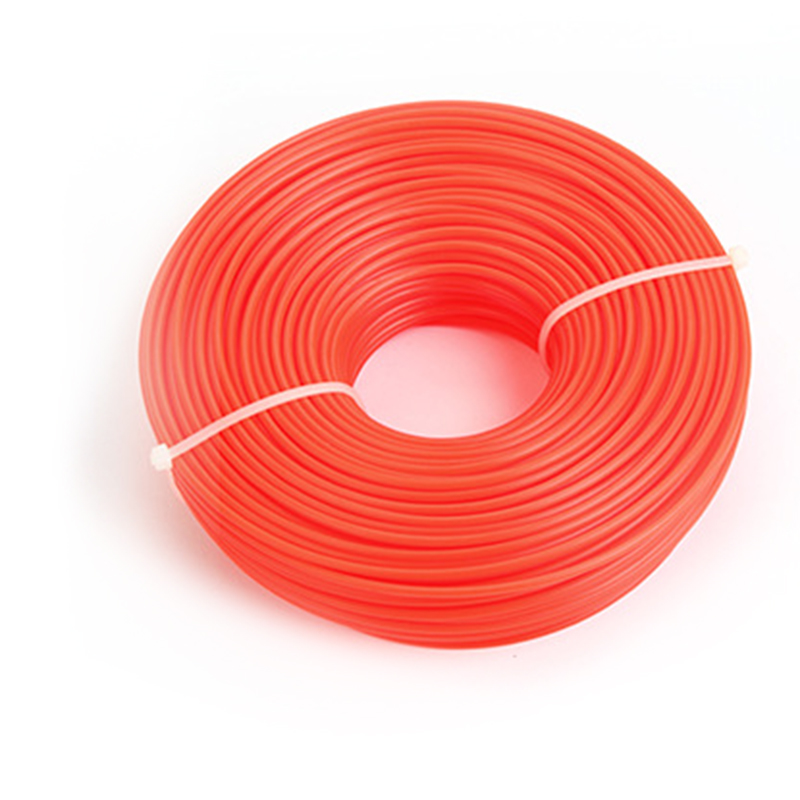 1 Roll 15m Long Flexible Trimmer Rope 1.6mm/2.0mm/2.4mm/3.0mm Width Lawn Mower Nylon Trimmer Thread Line Rope