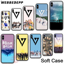 222N KPop Seventeen Soft Silicone Case for Apple iPhone 11 Pro X XR XS Max 7 8 6S Plus 5S SE 11 Pro Max Cases(China)