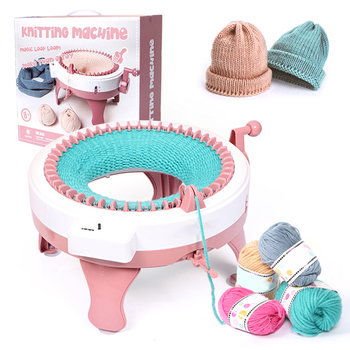 Durable Hand Woven Wool Machine Children's Toys Hand Knitting Machine Colorful 48 Needles Weaving Loom  Knitting Tools