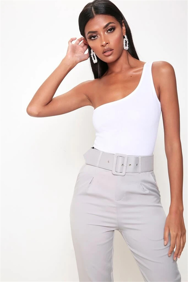 one shoulder bodysuit women18