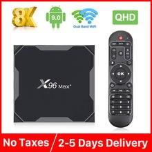 X96 max plus ТВ коробка s905x3 4 ядра ГБ 64 оперативной памяти