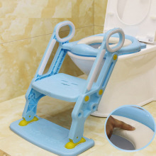Baby Potty Training Seat Children Potty With Adjustable Ladder Infant  Toilet Seat Toilet Training Folding Seat baby toilet seat folding children toddler potty toilet chair trainer with safety adjustable ladder step stools toilet training