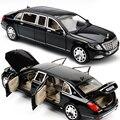 1:24 Maybach S600 металлическая модель автомобиля литья под давлением из алюминиевого сплава высокого Имитация, модели автомобилей 6 двери могут б...