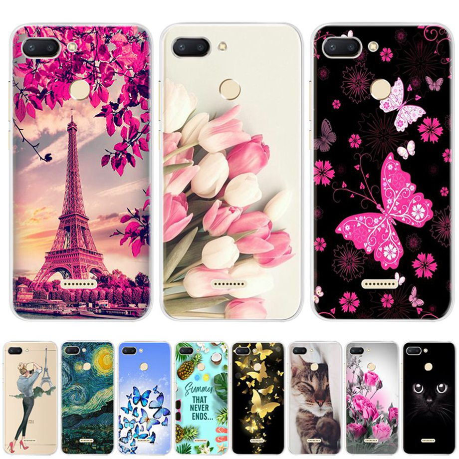 Silicone Case For Xiaomi Redmi 6 Cases Soft Tpu Back Cover Phone Cases For Protector Xiaomi Redmi6 Cover Redmi 6 Bumper Coque