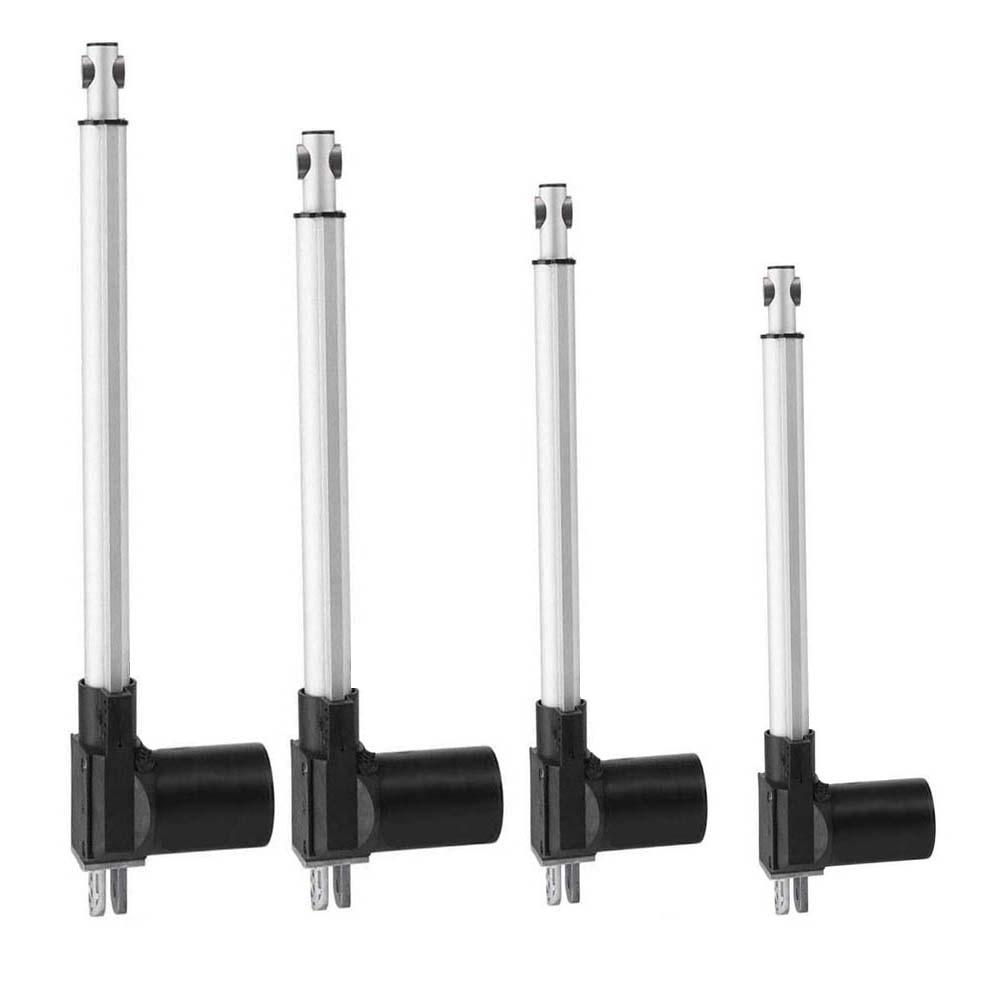 Atuador linear da velocidade 5 mm/s de 12 v/24 v 25mm-1000mm, atuador linear elétrico, impulso 5000n/500 kg/elevador da tevê personalizado curso
