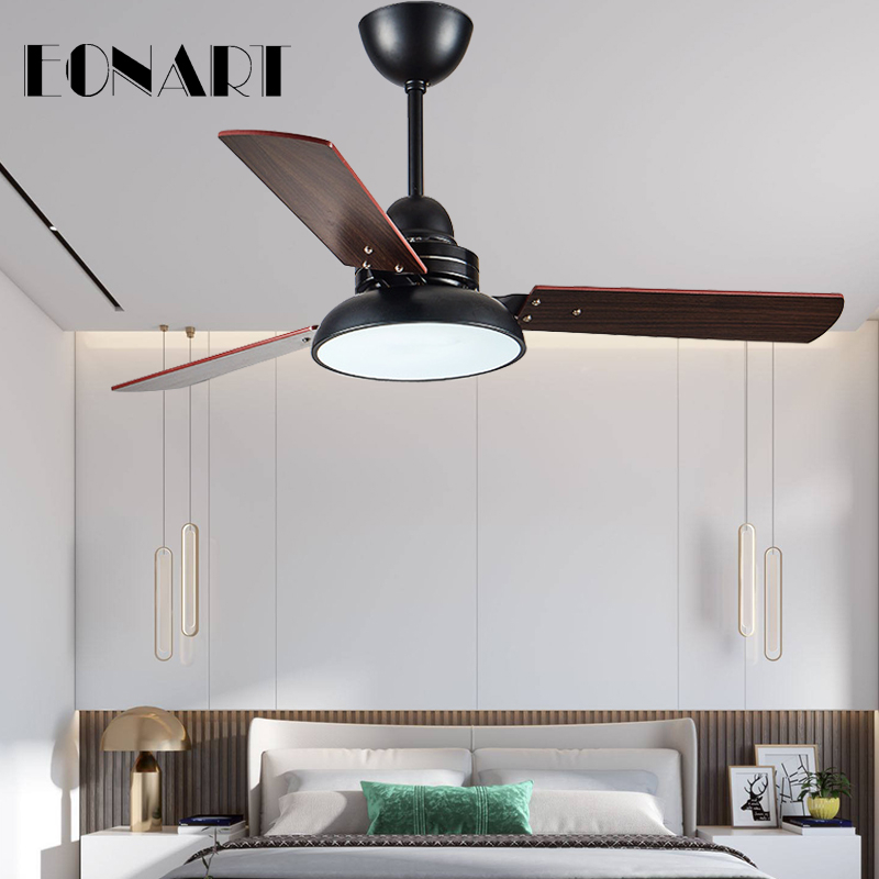 42 Inch Led Ceiling Fan With Lamp Roof Lighting Fan Modern Bedroom Living Room Kitchen Decorate Ceiling Fans With Remote Control