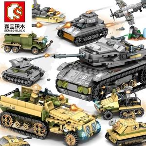 Image 1 - אבני בניין 1061pcs צבאי סדרת מסוק ww2 דמויות נשק אקדח חיילי טנק צעצועים חינוכיים לילדים מתנה