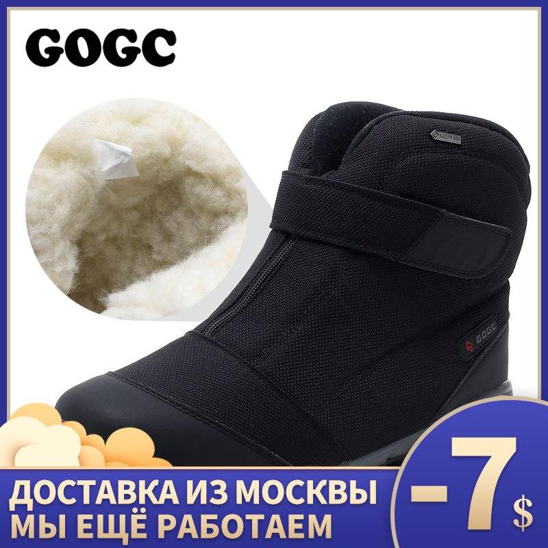GOGC Winter Boots Men Warm Men Winter Shoes Winter Shoes For Men Sneakers For Men's Fur Warm Snow Boots Shoes Men G9907