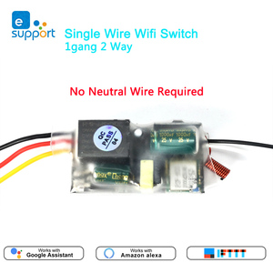 Image 1 - EWelink אחת חוט WIFI מודול 1 כנופיית 2 דרך RF433Mhz לא ניטרלי חוט נדרש לעבוד עם Alexa ו google בית 220 240V