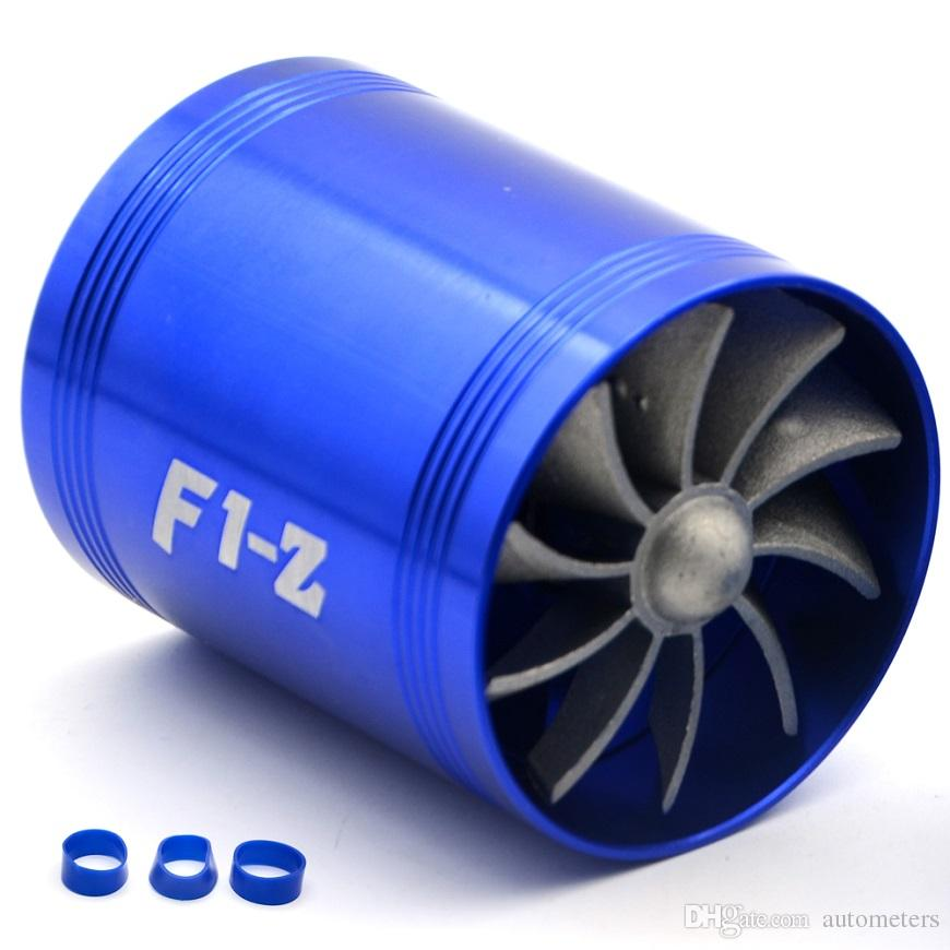 Free Shipping Universal SIMOTA Double Turbine Turbo Charger Air Intake Gas Fuel Saver Fan Car Supercharger