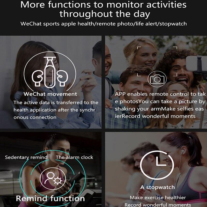 Smart Watch Men Full Touch Screen Fitness Tracker Blood Pressure Heart Rate Monitor Ip67 Waterproof Smartwatch