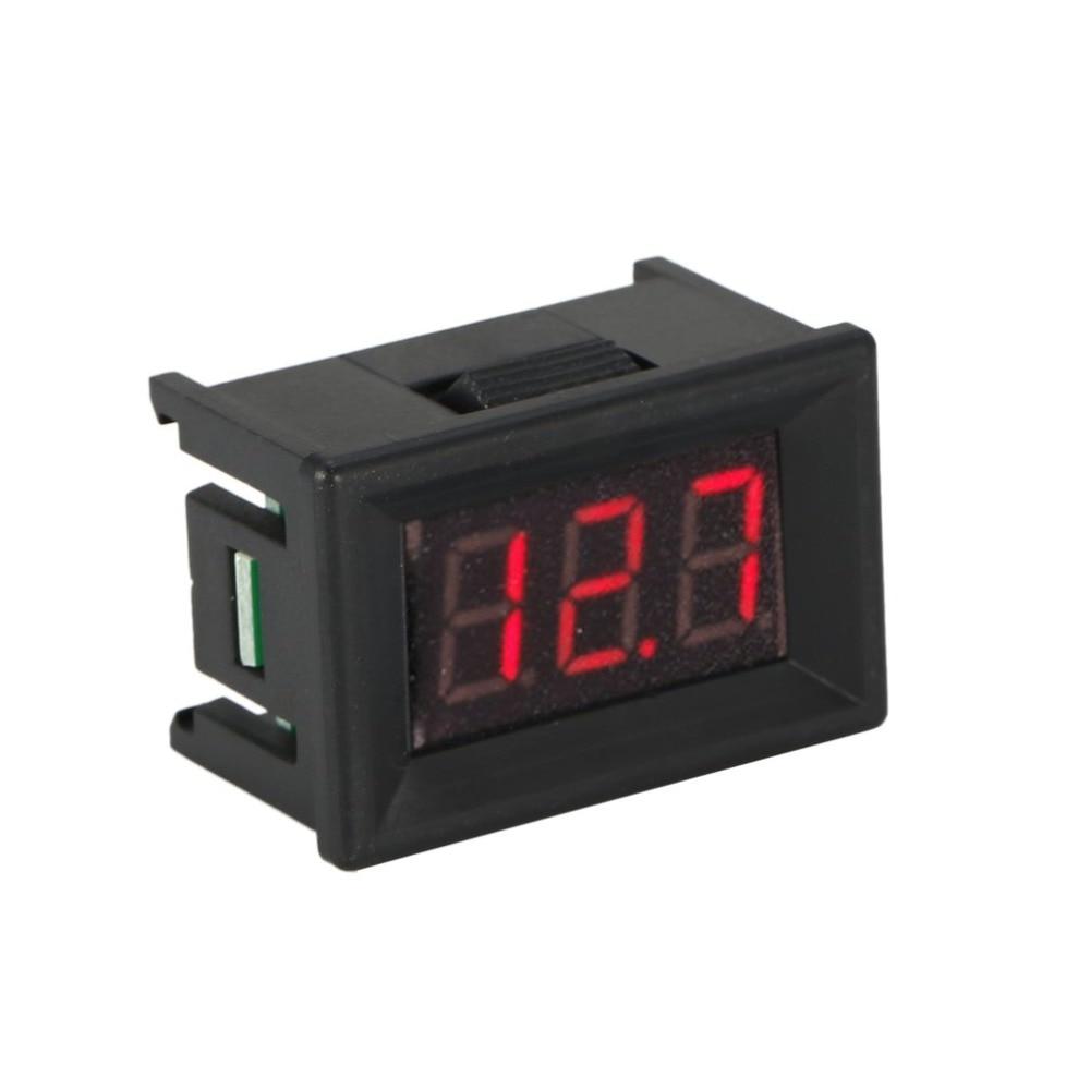 1/2/5 Pc 2.5-30V 2 Wire LED Digital Display Panel Voltmeter Electric Voltage Meter Volt Tester Auto Battery Car Motorcycle