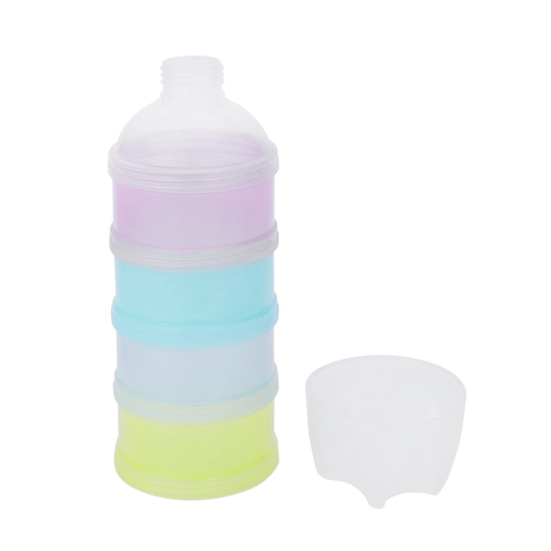 4 Layers Milk Powder Case Formula Dispenser Kids Baby Feeding Travel Container