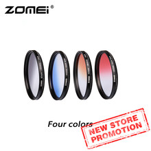 Zomei Camera Filtro Ultra Slim Frame GND Gradula Color Filters Blue Grey Red Orange 49 55 58 62 67 72 77 82mm For DSLR Camera