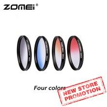 Zomei מצלמה Filtro Ultra Slim מסגרת הארקה Gradula מסנני צבע כחול אפור אדום כתום 49 55 58 62 67 72 77 82mm עבור DSLR מצלמה