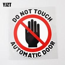 Yjzt 13.2cm × 14.3cm não toque auto porta aviso pvc carro adesivo decalque 12c-0387