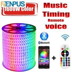 Светодиодная лента 220 В RG 16 цветов 5050 RGB наружная Водонепроницаемая IP68 20 м 30 м 60 м Пульт дистанционного управления СВЕТОДИОДНАЯ лента RGB