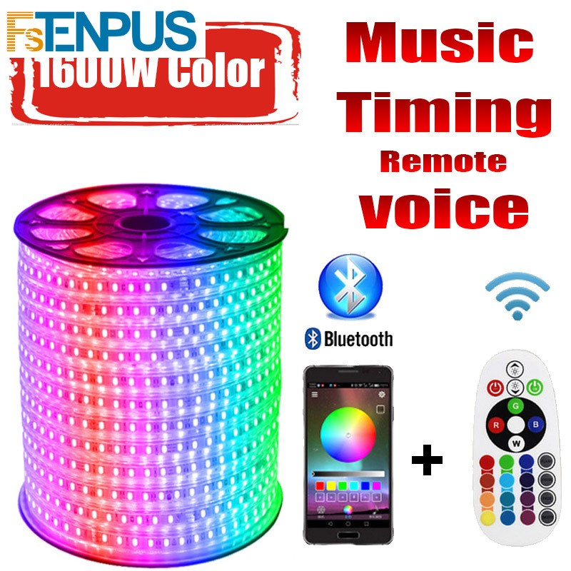 LED Strip 220v RG 16 Colors 5050 RGB Outdoor Waterproof IP68  20M 30M 60M Remote Control LED Strip RGB