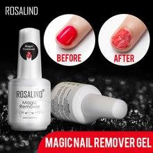 Rosalind removedor mágico de unhas, removedor de unhas fácil, limpador, esmalte de unha dentro de 2-3 minutos, remoção mágica de 15ml base de revestimento de verniz