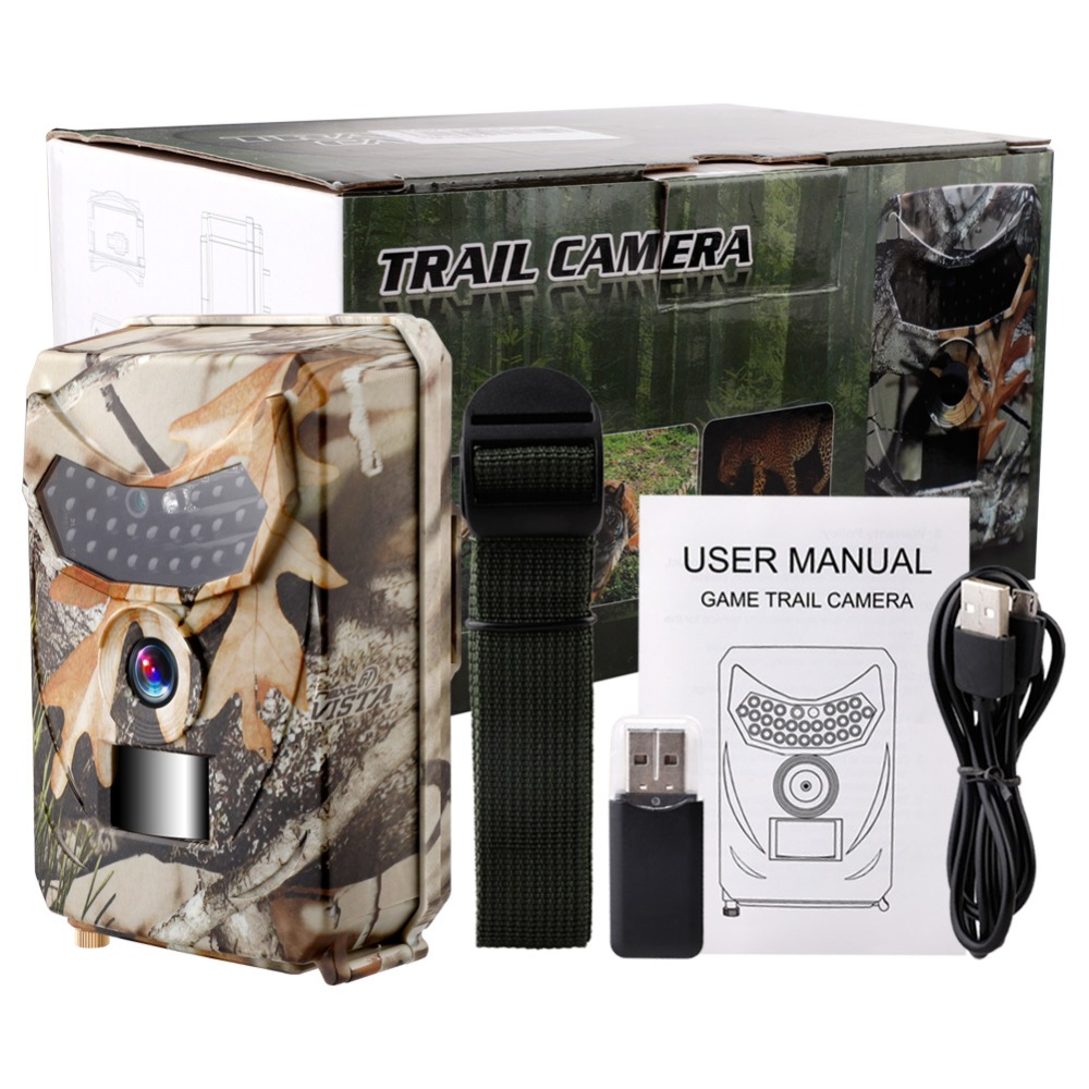 12mp Waterproof Hunting Trail Camera 1080p Infrared Night Vision Hd Video Cam Angle Wild Camera