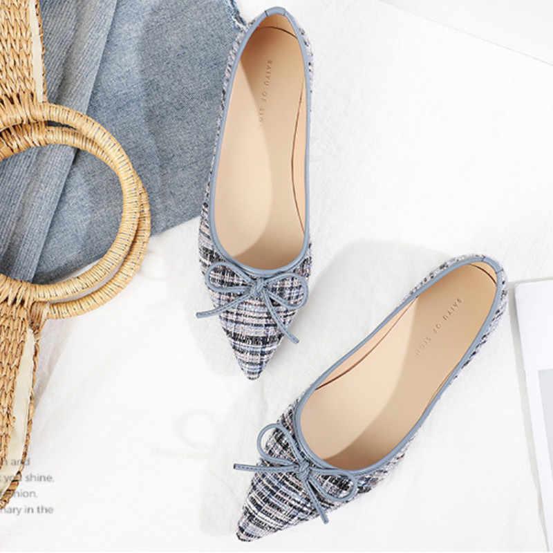 2020 Spring Flat Shoes Woman Woolen