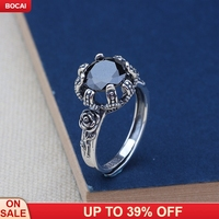 s925 pure silver inlaid stone monkey restoring ancient ways ring for women fashion roses rings
