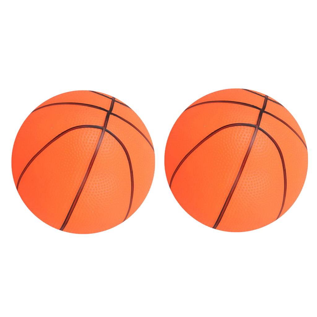 2pcs Mini Basketball Pet Dog Toy Bouncy Ball Park Garden Outdoor Toys Orange