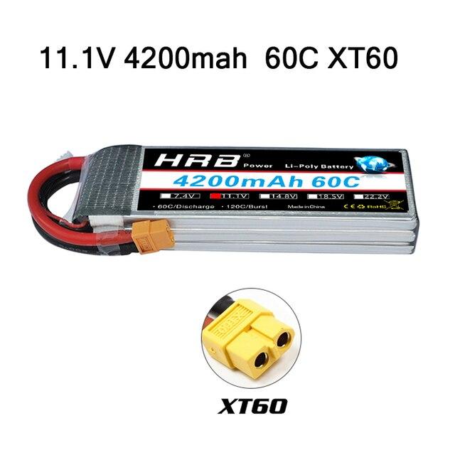 HRB 3S 11.1V 4200mah 60C Lipo