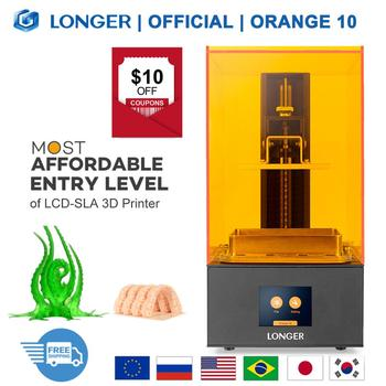 LONGER Orange 10 LCD 3D Printer Affordable SLA 3D Printer Metal Body Matrix LED Design Fast Cooling Resin Printer 3d Dru