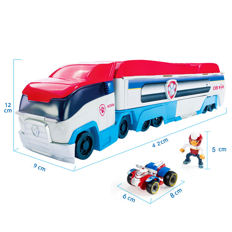 Paw Patrol Rescue Big Bus Patrol Dog Car Action Figure Toy Mobile  Anime Puppy Patrulla Canina Boy Girl Birthday Party Gift 50B