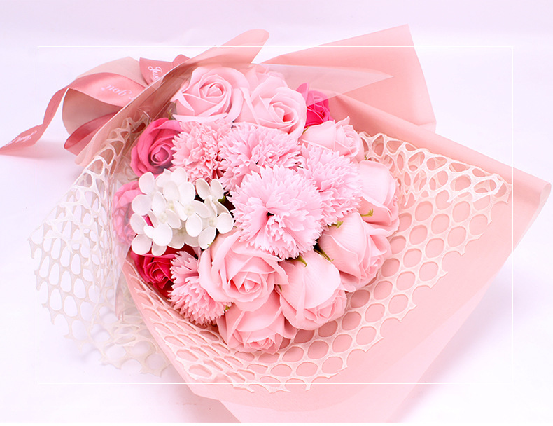 19 Rose Soap Bouquet Gift Box - Bouquet Of Rose