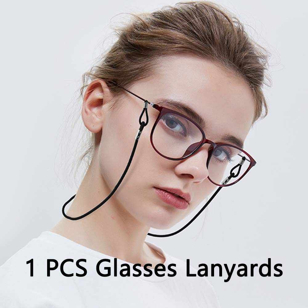 1 Pcs Candy Color Elastic Silicone Eyeglasses Straps Sunglasses Chain Anti-Slip String Glasses Ropes Band Cord Holder