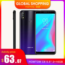 HOMTOM C8 4G 5.5'' Android 8.1 MTK6739 Quad Core 1.3GHz 2GB RAM 16GB ROM 13.0MP Smartphone