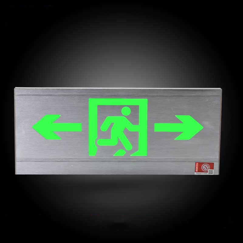 Fire Alarm Exit Emergency Light Silk Indicator Light Direction Arrow Safety Emergency Lamp For Home Office Apartment