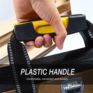 Image 4 - 도구 가방 휴대용 전기 가방 다기능 수리 설치 캔버스 대형 두꺼운 도구 가방 작업 포켓