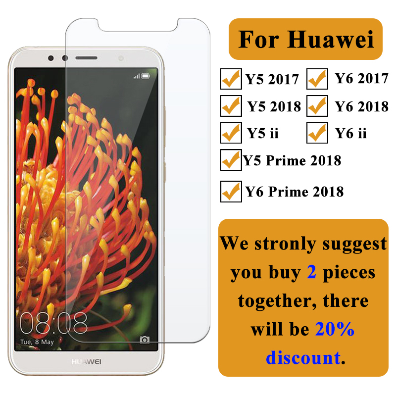 Protective <font><b>Glass</b></font> om the For <font><b>Huawei</b></font> Y6 <font><b>Prime</b></font> <font><b>2018</b></font> Y5 Screen Protector for <font><b>Huawei</b></font> Y6ii Y5ii Huwei Y6 <font><b>Y</b></font> 5 <font><b>6</b></font> 2017 <font><b>Tempered</b></font> <font><b>Glass</b></font> image