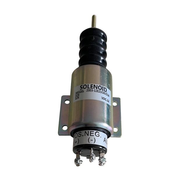 Beler 2003 12E2U1B2S1A 2370 12E2U1B2A SA 3193 kapatma durdurma solenoidi valfi 12V Fit için Woodward motor